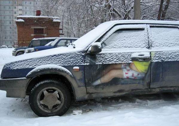 Отечественный автомобиль зимой
