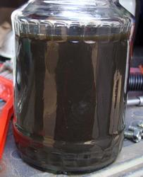масло почернело