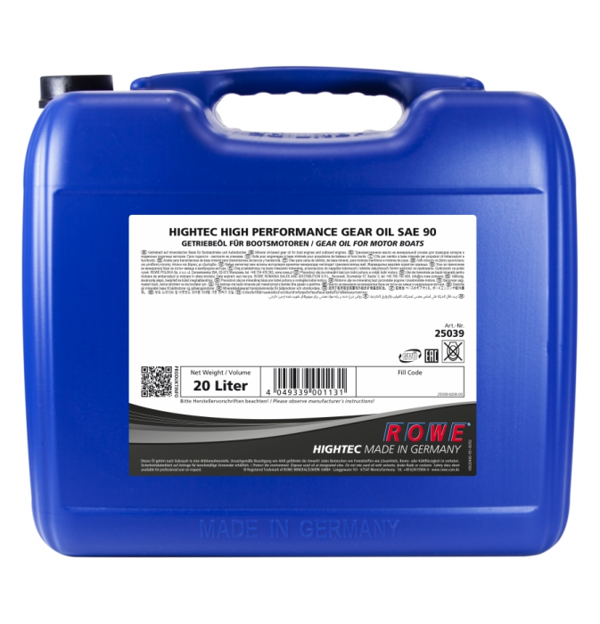 Rowe Hightec High Performance Gear Oil SAE 90