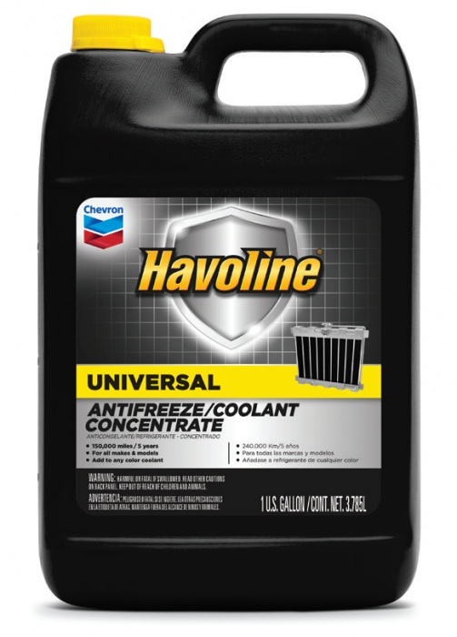 Chevron Havoline Universal Antifreeze/Coolant Concentrate & Premixed 50/50