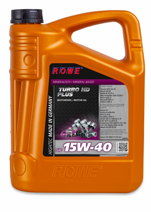 Rowe Hightec Turbo HD SAE 15W-40 Plus