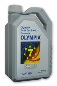 Olympia Fully Synthetic Formula 15W-50 SL/CF
