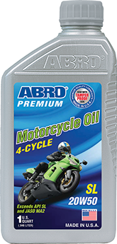 Abro Premium 4-Cycle Motorcycle Oil SL 20W-50