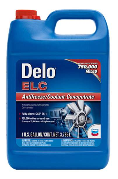 Chevron Delo ELC Antifreeze/Coolant Concentrate & Premixed 50/50, 60/40