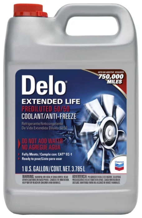Chevron Delo Extended Life Coolant/Antifreeze Prediluted 50/50