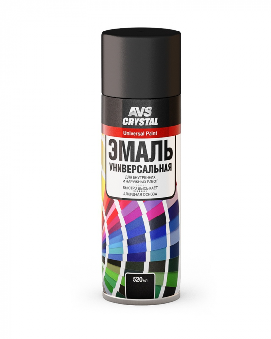 AVS Crystal Universal Paint Matt Black