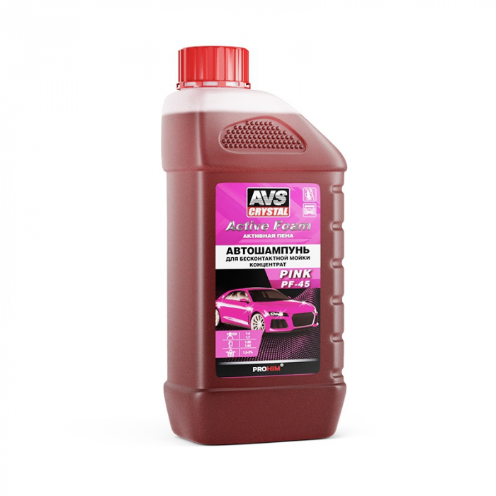 AVS Crystal Active Foam Pink PF-45