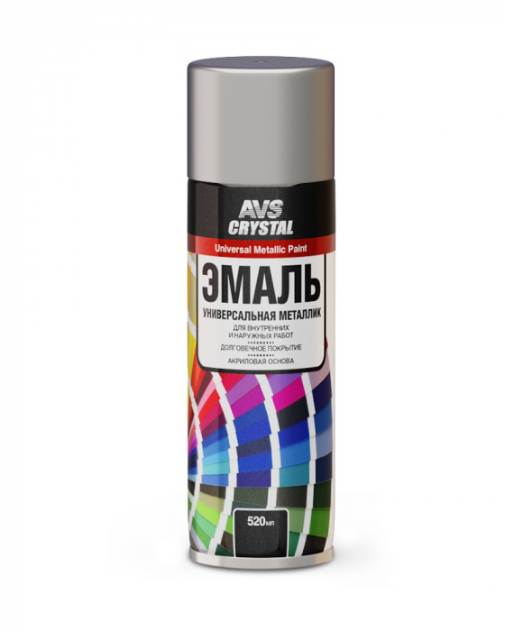 AVS Crystal Universal Metallic Paint Chromium